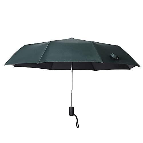 HRTX Paraguas automático de protección Solar, el Mini Paraguas es pequeño, Adecuado para Viajes, Paraguas retráctil con Mango de Gancho a Prueba de Viento