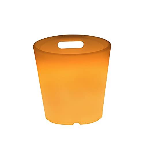 PEIHAN Cubo de Hielo LED - Cubo de Hielo Degradado Colorido - Cubo de Hielo Colorido portátil - Ideal para Bar en casa, Cerveza fría, champán y Vino (2 Piezas)