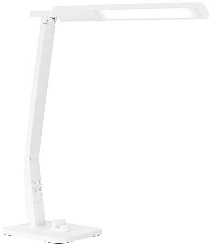 デスクライト LED 自然光 テレワーク 調色4モード 目に優しい USBポート付 (ホワイト)