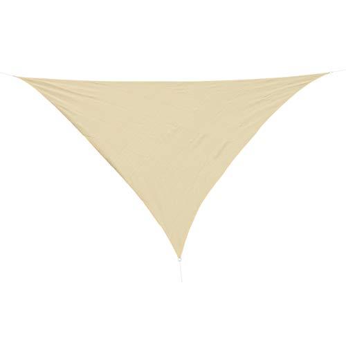 HOMCOM Outsunny - Toldo Vela triangulo (Varios tamaños y Colores), tamaño 3x3x3m, Color Arena