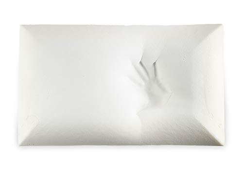 Hugs for Dreams (13) - Almohada de espuma viscoelástica 100% con funda de algodón + plata hipoalergénica, ergonómica, fabricada en Italia