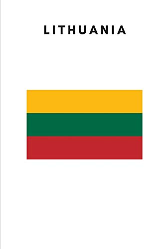 Lithuania: Country Flag A5 Notebook to write in with 120 pages