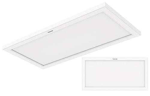 Toshiba LED Panel 60x30cm warmweiß 3000K mit integrierten Rahmen 24W Deckenlampe Anbau rechteckig Deckenleuchte Downlight weiß Ceiling Office Light