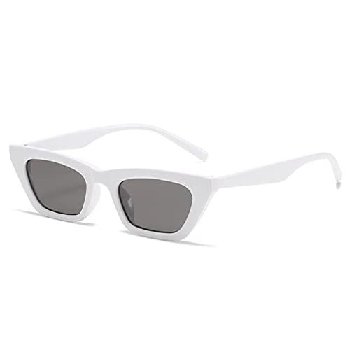 SeniorMar-UK Neue Persönlichkeit Katzenaugen-Sonnenbrille Trendy Fashion Retro Small Frame Sonnenbrille Europäische und amerikanische Net Rote Sonnenbrille