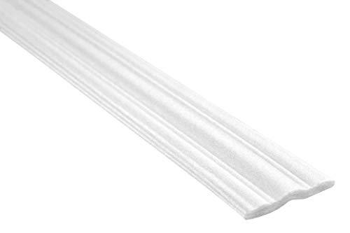 20 Meter | Flachleiste | Polystyrolleiste | Deckenleiste | Hexim | 58x9mm | M-09
