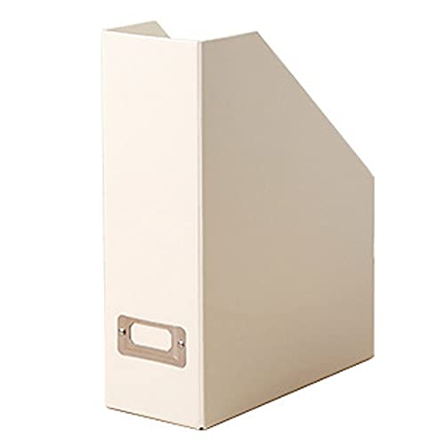 RWEAONT Archivo de la Revista, Escritorio de Oficina Caja Trapezoidal Carpeta de Papel Caja de Acabado Librería Ladder Frame Basket 12.25 X 9.75 X 3.75 Pulgada (Color : W)