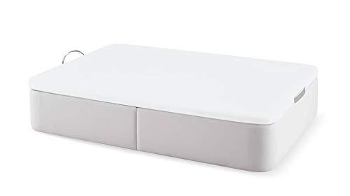 Naturconfort Canapé Abatible Tapizado Tapa 3D Blanca Low Cost Blanco 80x180cm Envio y Montaje Gratis