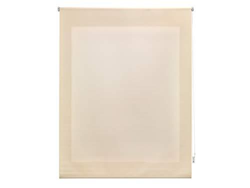 FirstlineGo Estor Enrollable traslúcido Liso Beige 160 X 175 cm