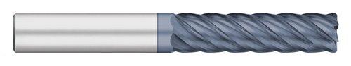 Titan TC61220 Solid Carbide Terminator End Mill, Long Length, 6 Flute, Corner Radius, 40 degree Angle Helix, ALCRO-Max Coated, 5/16' Cutting Diameter, 3' Overall Length, 1-1/8' Length of Cut