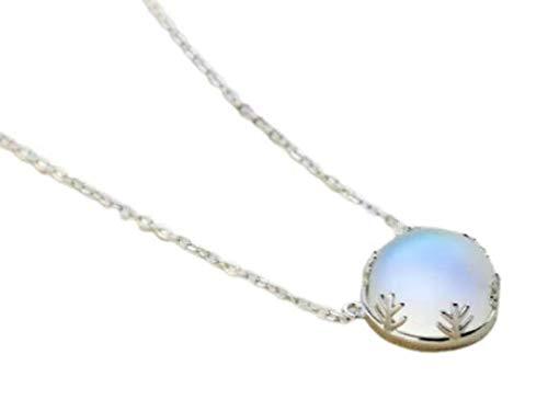 S925 Silber Halskette Aurora Boreales Anhänger Halo Licht Damen mit Box als Geschenkverpackung für Damen Aurora Silver Necklace (Clair)