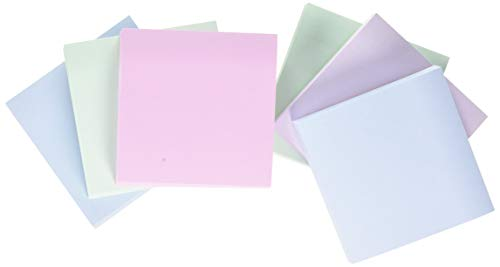 Post-it Recycled Notes - Pastel Rainbow Light Green, Grass Green, Light Blue, Gray - 6 Pads Per Pack - 100 Sheets Per Pad - 76 mm x 76 mm