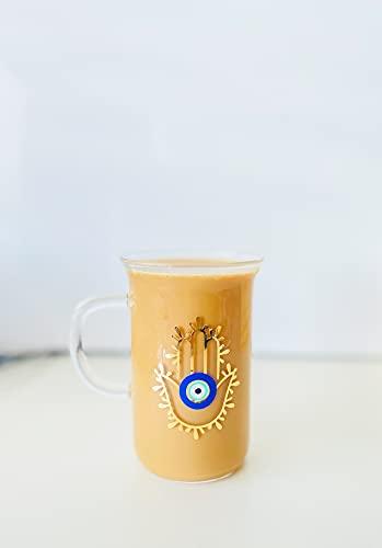 Evil Eye Mug Hamsa Hand Cup Evil Eye Glasses Can Hamsa Hand Mug Latte Mug Custom Latte Mug