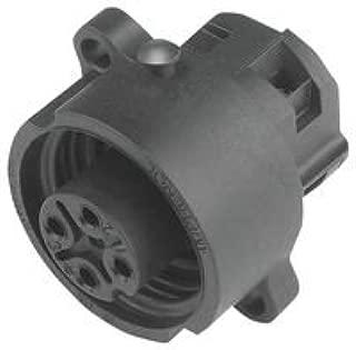 Circular DIN Connectors 3+PE FEM RECEPT BLK SCREW SILVER CONTACT (1 piece)