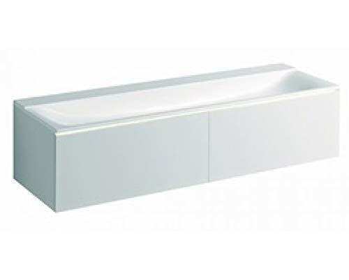 Geberit Xeno 2 wastafelmeubel 500.348, 1595x350x473 mm, 2 lades, voor wastafel op mineraal materiaal, Kleur: Grijze lak mat - 500.346.00.1
