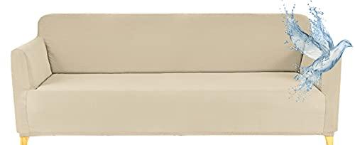 Copridivano 3 Posti Impermeabile Elasticizzato con Braccioli, Copridivano Fodera Protettiva Antimacchia Antigraffio, Copertura Protezione Divano, Copri Divano E Poltrona Da 1 A 4 Posti