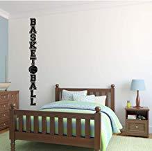 Vivityobert Vinilo adhesivo para pared de baloncesto, para dormitorio, sala de juegos u otros espacios de vida, color carbón