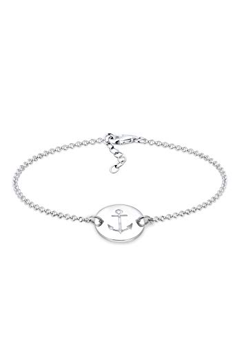 Elli Armband Anker Plättchen Trend 925er Sterling Silber Ancre