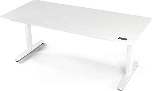Yaasa Desk Pro II, Elektrisch höhenverstellbarer Schreibtisch, Ergonomischer Schreibtisch (Off-White, 180 x 80 cm)