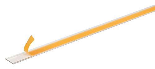 GAH-Alberts 433635 Flachstange | selbstklebend | Aluminium, silberfarbig eloxiert | 1000 x 20 x 2 mm