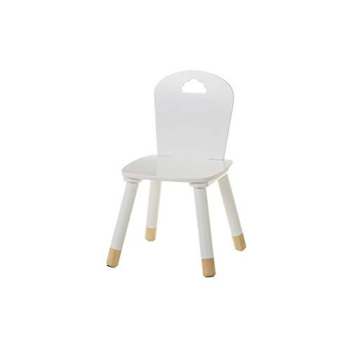 Silla Infantil Blanca de Madera Moderna para Dormitorio Child - LOLAhome