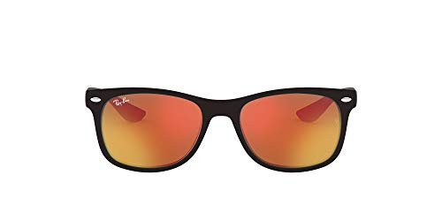Ray-Ban Junior Kids' RJ9052S New Wayfarer 47mm (Youth) Square, Red, 47 mm