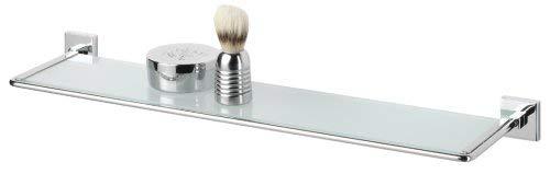 Tiger Melbourne Repisa, Estante para Baño y Ducha, 57.5 x 14.5 x 4 cm, Metal, Cromo, Cristal de Seguridad
