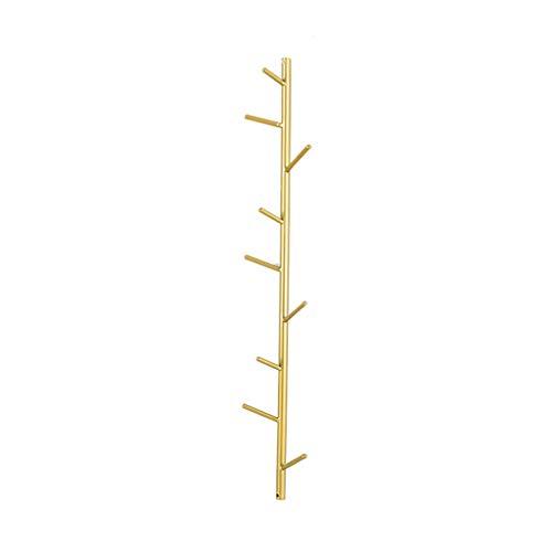 EIVD Kleiderhaken aus Metall, Wandgarderobe Creative Porch Wall, Schlüsselrahmen for dekorative Türveranda, Kleiderständer mit Mehreren Taschen for das Wohnzimmer - Gold (Size : M)