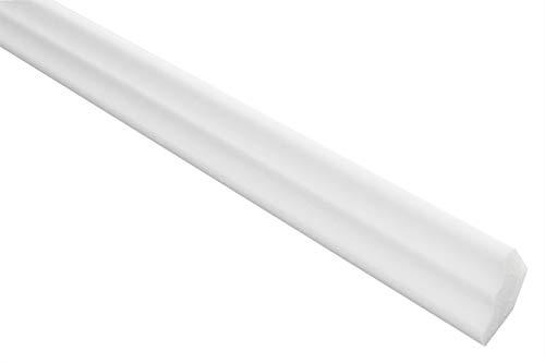 Zierleisten Sparpaket E-2 | leicht und stabil | extrudiertes Styropor | Stuckprofile | Decken-/ und Wandübergang | modern weiß | dekorativ | XPS | 17 x 25 mm | 20 Meter