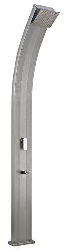 Steinbach Speedshower Slim Line Deluxe Solardusche, Silber, 25 x 13,5 x 225 cm