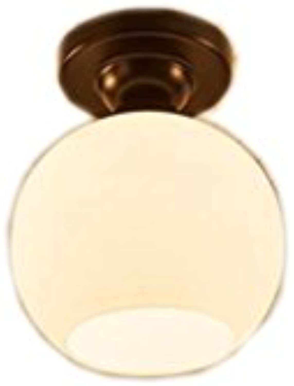 Single Head Lotus Lamp Round Pastoral Deckenleuchte (Farbe   Wei)