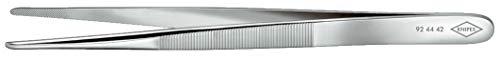 KNIPEX 92 44 42 Präzisions-Pinzette stumpfe Form 140 mm