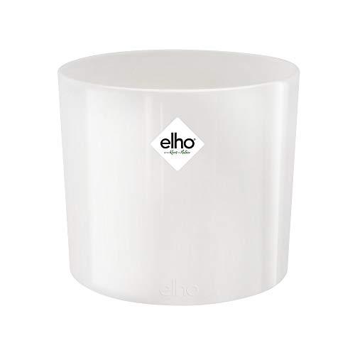 Elho B. for Diamond Round Vaso di Fiori, Bianco, 11.1x11.1x9.7 cm