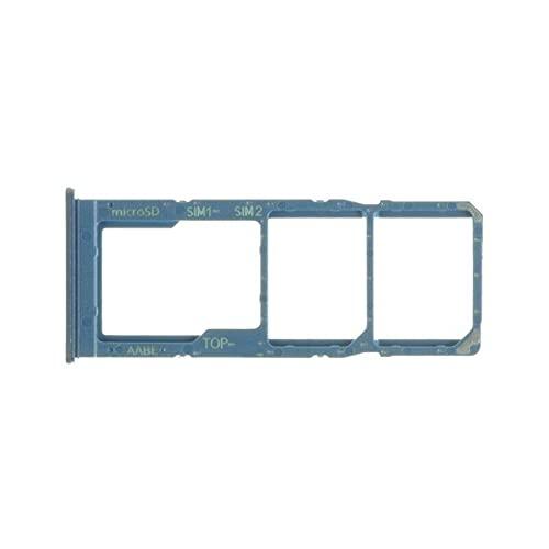 Soporte para tarjeta nano SIM 1 + SIM 2 + ranura para tarjeta micro SD (azul) compatible con Samsung Galaxy A125 / SM-A125F / A125 de 6,5 pulgadas.