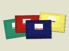 Baier & Schneider Buch-, Heftumschlag Hefthülle A5 quer, PP-Folie, A5 15,6 cm, 21,0 cm, rot