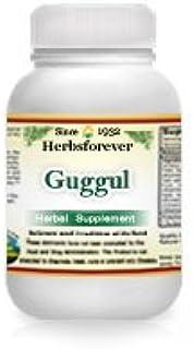 Guggul (Commiphora Mukul) Gum Resin (Ayurvedic Cholesterol Care Formulation), 90 Vege Capsules, 800 mg Each Extract Ratio ...