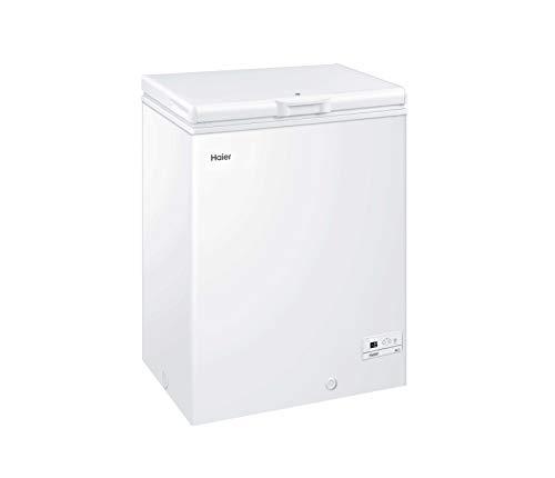 Haier HCE143R - Congelador horizontal, 143 litros, Función Super Congelación, Cierre con...