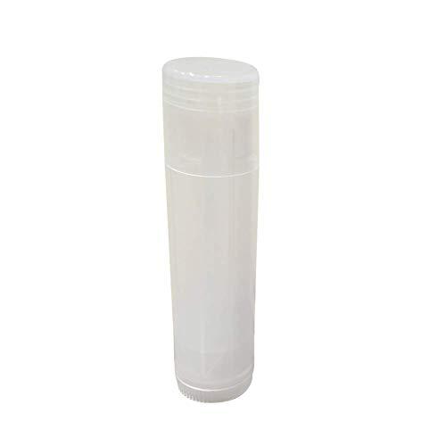 GCDN Lot de 10 Tubes de baume à lèvres vides Rechargeables en Plastique Rond à Faire soi-même, baume à lèvres, Tube de Support pour Crayons de Teint, déodorant, Pas de zéro, Transparent, 10pcs/Set