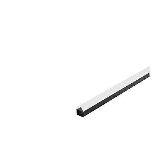 Profil industriel Dome GLENOS, noir mat, 2m
