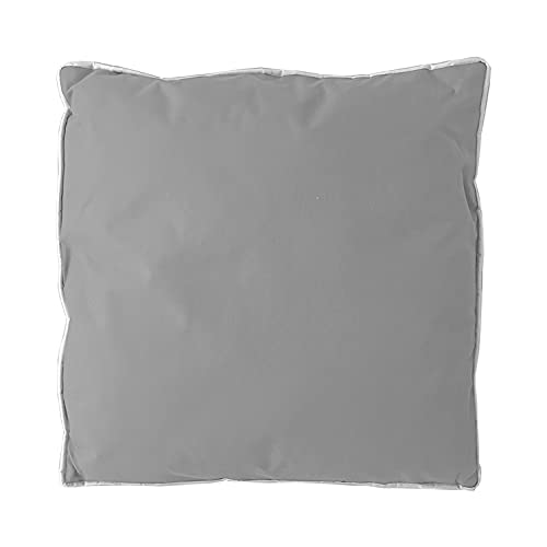 Mojawo Cojín decorativo para sofá, 100% poliéster, impermeable, color gris, 45 x 45 cm