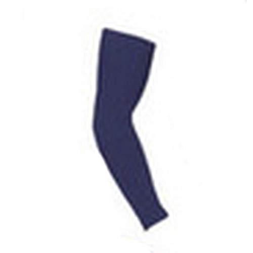 Equipo de protección de Baloncesto Brazaletes Deportivos Muñequeras de Codo Largo Hombres y Mujeres Protector de Mangas de Brazo Absorbente Azul Oscuro, M Uniquelove