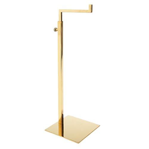 dailymall Soporte de Bolsa Expositor de Bolsa Pedestal Cuadrado Gancho en Forma de L Inoxidable Ajustable 4 Colores - Oro