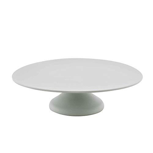 Point-Virgule Tortenplatte aus Bambus Faser mit Fuß, Deko Backzubehör für Torten oder Cupcake, Dürchmesser 30 cm, Höhe 8,5 cm, Salbeigrün