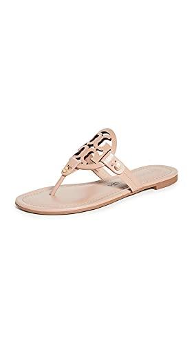 Tory Burch Women's Miller Thong Sandals, Light Makeup, Tan, 9 Medium US