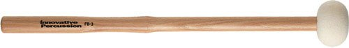 Innovative Percussion FB3 Hard Marching Bass Drum Mallets with Heartwood Hickory Shafts