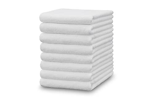 NATURE 4 ME STARK REDUZIERT 8er Set Frottee Handtuch Weiss 50x100cm aus 100% Baumwolle, Größe:50x100 cm, Farbe:Weiss