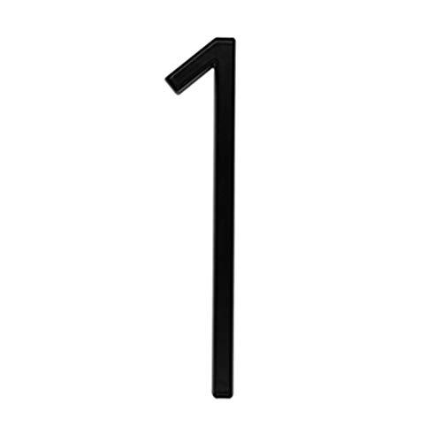 Zmaoyun-Números para Casas 5 en # 0-9 Placas de señal de Puerta Grande 125 mm Números de casa Dirección Door Puerta al Aire Libre, Aleación de Zinc Negras, Fácil instalación (Color : 1)