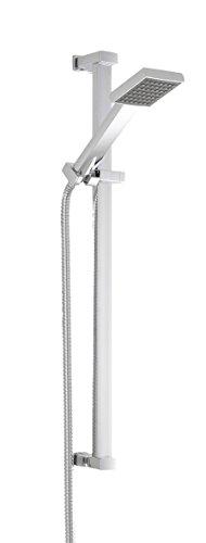 Nuie Rectangular STY059 Modern Bathroom Square Slide Rail Shower Kit, 660mm...