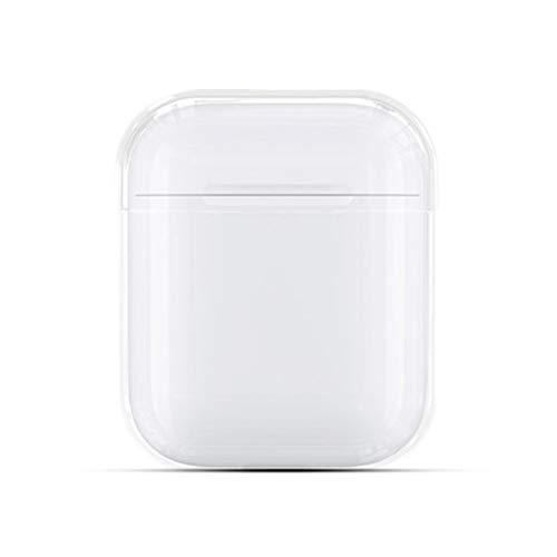 kaliter Coque Compatible avec AirPods,Clear Dur Transparent Anti-Choc Boîte de Protection Étui de Chargement pour AirPods 1 & 2 Earphones