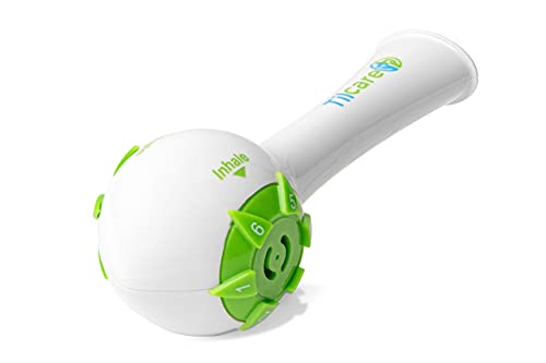 Inspiratory Expiratory Muscle Trainer by Tilcare - Perfect Breathing Exercise Device for Developing Strong Lungs - Lung Expander Exerciser That is Great Drug-Free Therapy for COPD, CHF, or Dysphagia