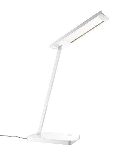OSRAM LED Schreibtischlampe Silento Tavolo / LED Tischleuchte touch dimmbar / hochwertiges Aluminium in weiß / 6W / warmweiß - 3000K